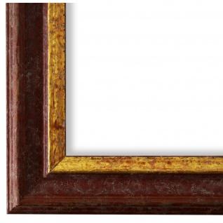 Bilderrahmen Rot Gold Holz Forli 3, 7 - DIN A2 - DIN A3 - DIN A4 - DIN A5