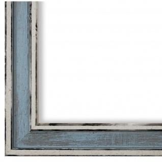 Bilderrahmen Blau Retro Shabby Holz Lugnano 2, 8 - 40x60 50x50 50x60 60x60