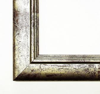 Holz Bilderrahmen Wechselrahmen Shabby Modern Clever Line 2 in Silber