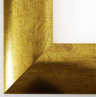 Bilderrahmen Magdeburg in Gold Modern Shabby Rahmen Holz 7, 9 - alle Größen NEU
