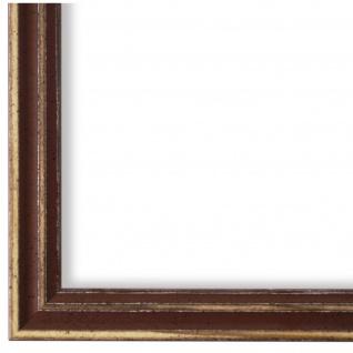 Bilderrahmen Braun Antik Holz Cosenza 2, 0 - DIN A2 - DIN A3 - DIN A4 - DIN A5