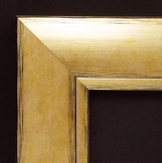 Bilderrahmen Gold Landhaus Holz Shabby Rahmen Urkunden Corona 6, 9 - alle Größen