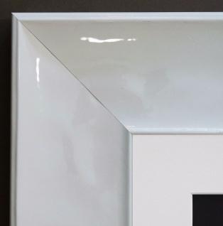 Bilderrahmen Taranto Weiss Lack Modern Passepartout in Weiss 7, 5 - alle Größen