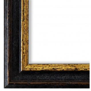Bilderrahmen Schwarz Gold Vintage Retro Holz Forli 3, 7 - NEU alle Größen