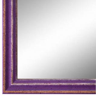 Wandspiegel Spiegel Lila Antik Shabby Holz Cosenza 1, 9 - NEU alle Größen