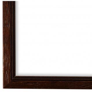 Bilderrahmen Braun gemasert Vintage Shabby Holz Vasto 1, 8 - NEU alle Größen