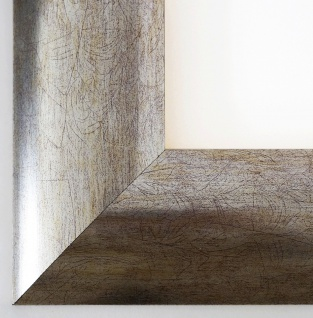 Bilderrahmen Magdeburg in Silber Modern Shabby Rahmen Holz 7, 9 - alle Größen NEU