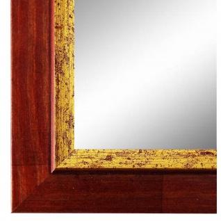 Spiegel Wandspiegel Rot Gold Modern Holz Catanzaro 3, 9 - NEU alle Größen