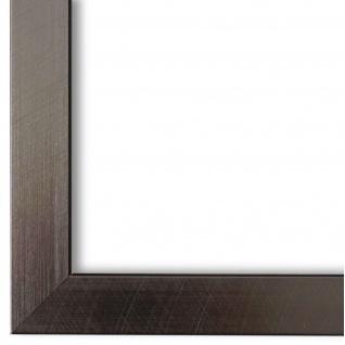 Bilderrahmen Edelstahl Retro Holz Amalfi 2, 5 - DIN A2 - DIN A3 - DIN A4 - DIN A5