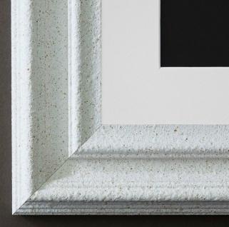 Bilderrahmen Trento in Weiss mit Passepartout in Weiss 5, 4 Top Qualität