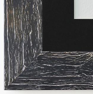 Bilderrahmen Capri in Schwarz mit Passepartout in Schwarz 5, 8 - NEU alle Größen