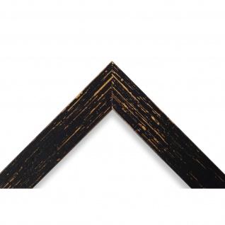 Bilderrahmen Schwarz Antik Vintage Holz Cremona 3, 0 - 40x60 50x50 50x60 60x60 - Vorschau 3