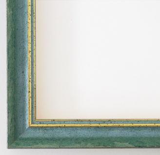 Bilderrahmen Grün Gold Antik Rahmen Klassisch Braunschweig 2, 5 alle Größen NEU