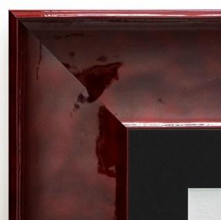 Bilderrahmen Taranto Rot Lack Modern Passepartout in Schwarz 7, 5 - alle Größen