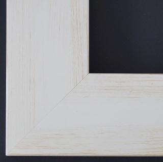 Bilderrahmen Bielefeld in Weiss Beige Landhaus Rahmen Holz 6, 9 - alle Größen Neu