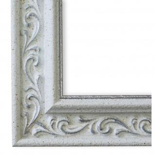 Bilderrahmen Weiss Silber Klassisch Retro Holz Verona 4, 4 - NEU alle Größen