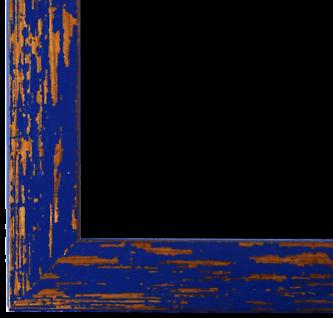 Bilderrahmen Blau Antik Vintage Holz Cremona 3, 0 - 40x60 50x50 50x60 60x60