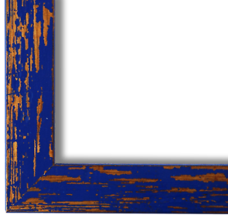 Bilderrahmen Blau Antik Vintage Holz Cremona 3, 0 - NEU alle Größen