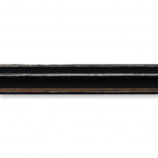 Bilderrahmen Schwarz Antik Shabby Holz Cosenza 2, 0 - NEU alle Größen - Vorschau 2