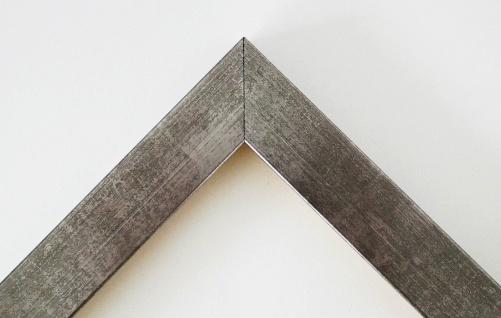 Bilderrahmen Silber Modern Shabby Rahmen Holz Foto Wolfsburg 3, 0 - alle Größen