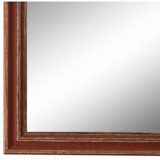 Wandspiegel Spiegel Rot Antik Shabby Holz Cosenza 1, 9 - NEU alle Größen