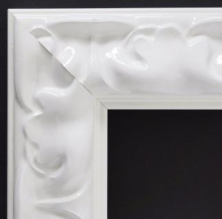 Bilderrahmen Weiss Lack Barock Rahmen Holz Klassisch Sylt 5, 7 - alle Größen