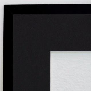 Bilderrahmen Oldenburg Schwarz Struk Antik Passepartout Schwarz 1, 7 - jede Größe