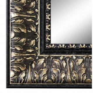 Spiegel Wandspiegel Schwarz Silber Barock Retro Ancona 7, 5 - NEU alle Größen
