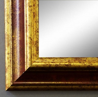 Wandspiegel Rot Gold Bari Antik Barock 4, 2 - NEU alle Größen