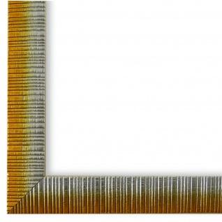 Bilderrahmen Gelb Silber Holz Sorrento 2, 5 - DIN A2 - DIN A3 - DIN A4 - DIN A5