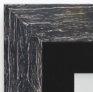 Bilderrahmen Capri in Schwarz Rustikal Passepartout in Schwarz 5, 8 - alle Größen