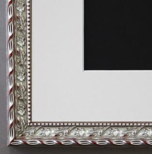 Bilderrahmen Brescia in Silber mit Passepartout in Weiss 2, 0 Top Qualität