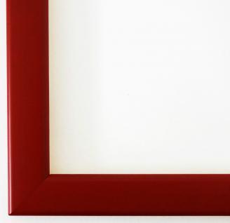 Bilderrahmen Rahmen Holz Modern Art Hannover in Rot Matt 2, 4 - Top Qualität