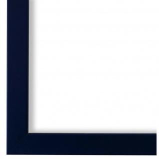 Bilderrahmen Saphir Blau Holz Asti 1, 7 - DIN A2 - DIN A3 - DIN A4 - DIN A5