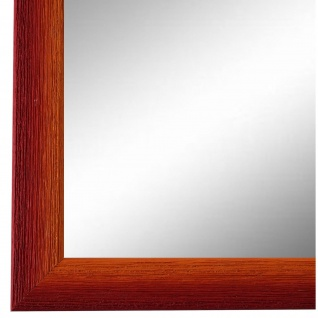 Wandspiegel Spiegel Rot Orange Retro Vintage Holz Pinerolo 2, 3 - NEU alle Größen