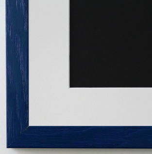 Bilderrahmen Siena in dunkel Blau mit Passepartout in Weiss 2, 0 Top Qualität