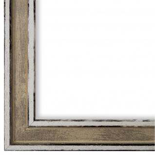 Bilderrahmen Beige Retro Shabby Holz Lugnano 2, 8 - NEU alle Größen