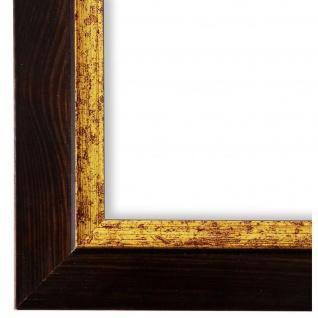 Bilderrahmen dunkel Braun Retro Vintage Holz Catanzaro 3, 9 - NEU alle Größen