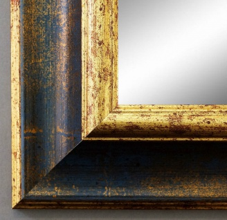 Wandspiegel Hochformat Querformat Antik Acta Blau Gold 6, 7 - NEU alle Größen