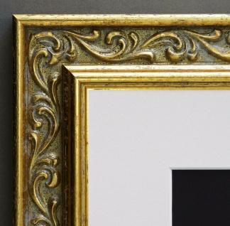 Bilderrahmen Verona in Gold Barock mit Passepartout in Weiss 4, 4 - alle Größen
