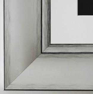 Bilderrahmen Bochum in Silber rmit Passepartout in Weiss 6, 9 Top Qualität