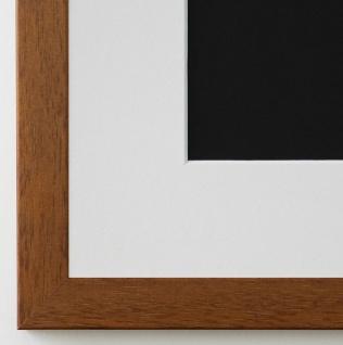 Bilderrahmen Neapel in hell Braun mit Passepartout in Weiss 2, 0 Top Qualität