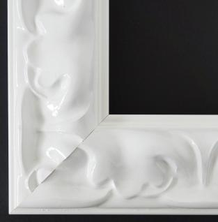Bilderrahmen Rahmen Holz Klassisch Sylt in Weiss Lack 5, 7 - Top Qualität