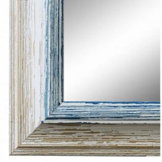Wandspiegel Spiegel Beige Blau Vintage Retro Holz Bari 4, 4 - NEU alle Größen