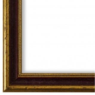 Bilderrahmen Rot Gold Holz Livorno 2, 7 - DIN A2 - DIN A3 - DIN A4 - DIN A5