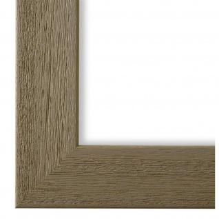 Bilderrahmen Grau Braun Holz Florenz 4, 0 - DIN A2 - DIN A3 - DIN A4 - DIN A5