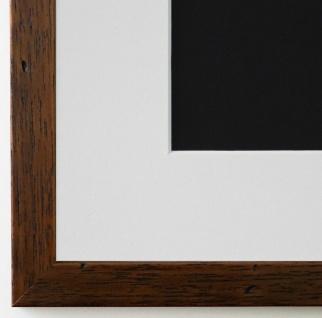 Bilderrahmen Neapel Braun gemasert mit Passepartout in Weiss 2, 0 Top Qualität