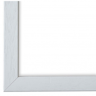 Bilderrahmen Weiss Struktur Modern Holz Como 2, 0 - NEU alle Größen