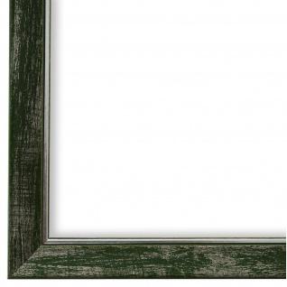 Bilderrahmen Grün Silber Vintage Retro Holz Frosinone 1, 8 - NEU alle Größen