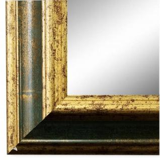 Wandspiegel Spiegel Grün Gold Vintage Retro Holz Bari 4, 4 - NEU alle Größen